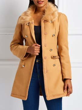 Ericdress Regular Double-Breasted Slim Fall Mid-Length Overcoat