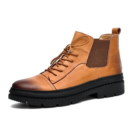Ericdress Plain Round Toe Men's Work Boots