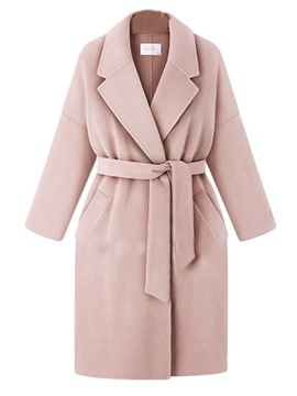 Ericdress Belt Loose Regular Winter Long Overcoat