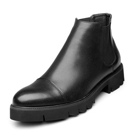 Ericdress Plain Round Toe Elastic Men's Work Boots