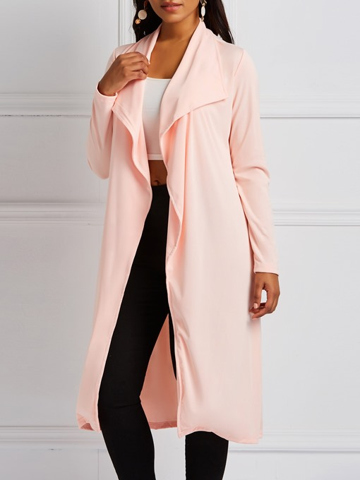 Ericdress Wrapped Mid-Length Spring Regular Trench Coat