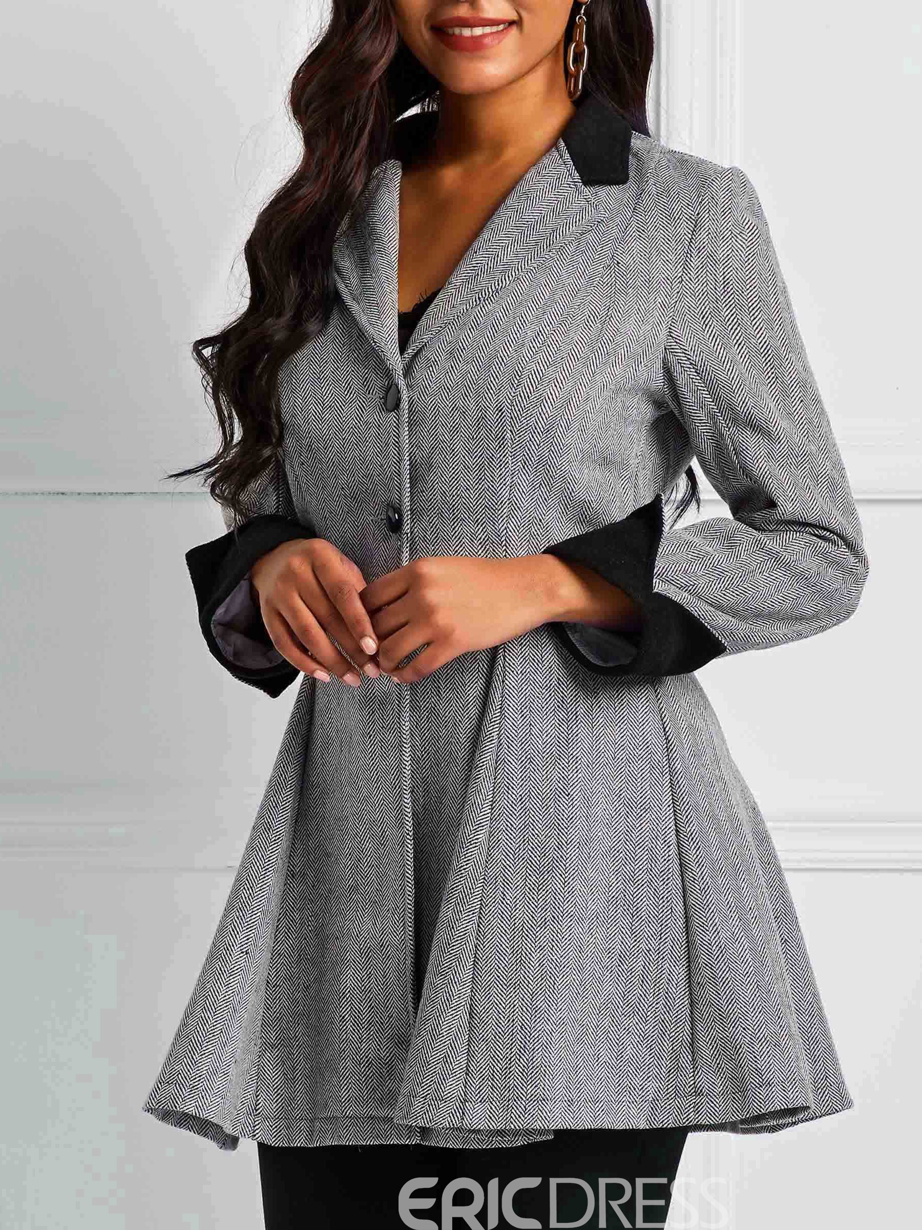 Ericdress Notched Lapel Single-Breasted Long Sleeve Casual Fall Blazer