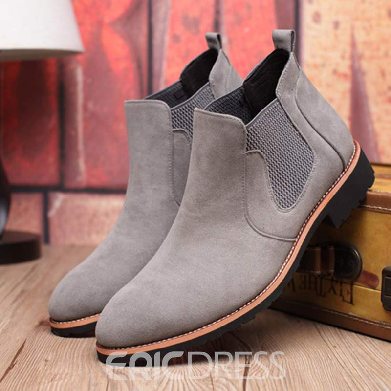 Ericdress Plain Round Toe Elastic Men's Boots