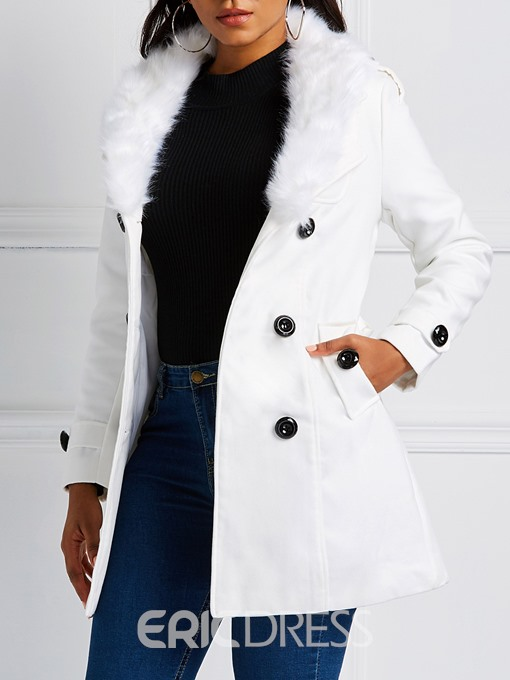 Ericdress Double-Breasted Lace-Up Regular Mid-Length Fall Overcoat