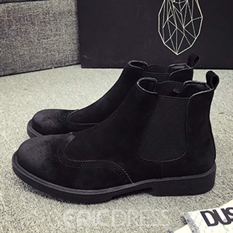 Ericdress Round Toe Slip-On Men's Casual Boots