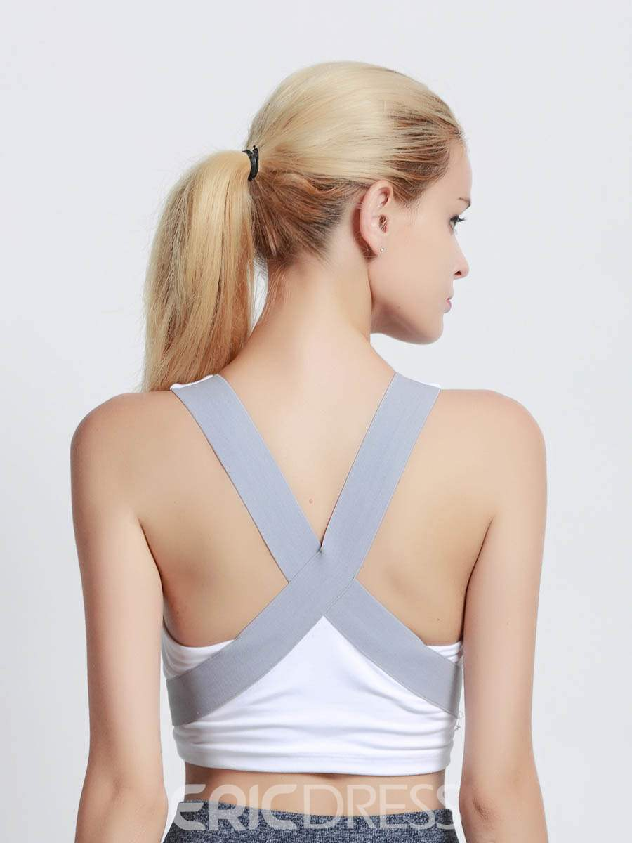 Ericdress Push Up Non-Adjusted Straps Plain Free Wire Sports Bras
