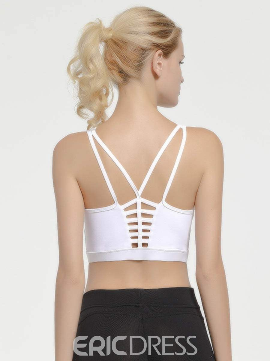 Ericdress Plain Push Up Free Wire Sports Bras