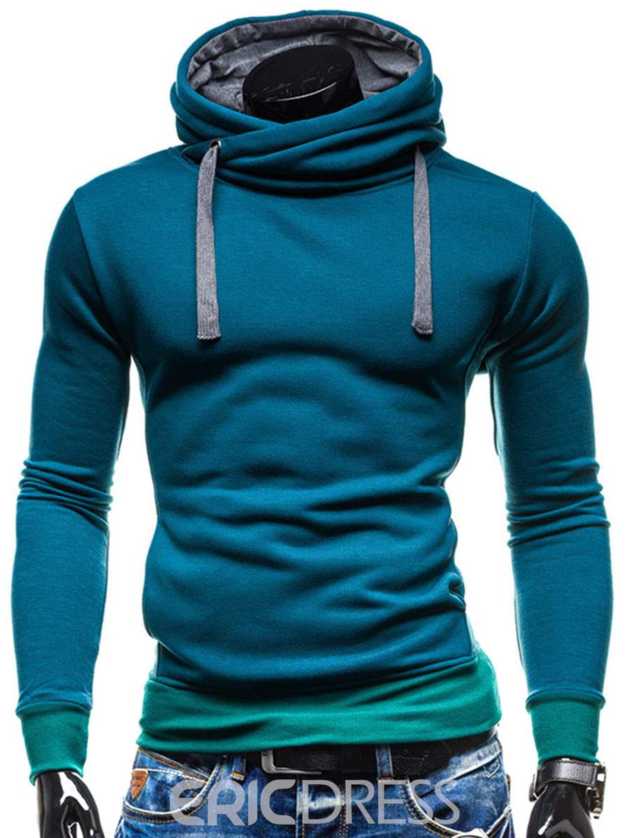 Ericdress Solid Color Sports Plain Slim Fit Men's Hoodie