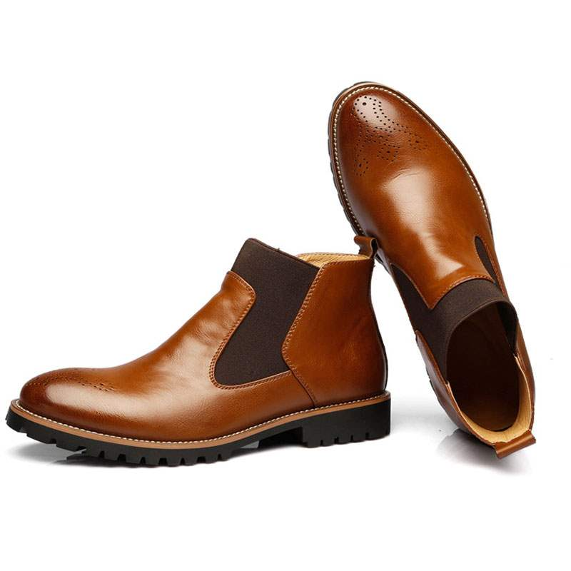 Ericdress PU Patchwork Round Toe Men's Ankle Boots
