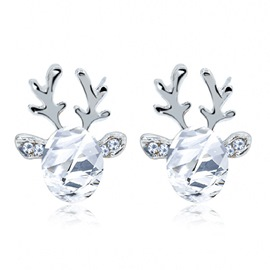 Ericdress Elk Crystal Earrings
