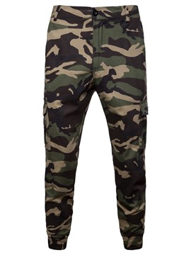 Ericdress Camouflage Side Pocket Loose Mens Casual Pants