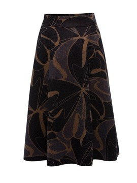 Ericdress Mid-Calf A-Line Pockets Floral Elegant Winter Skirt