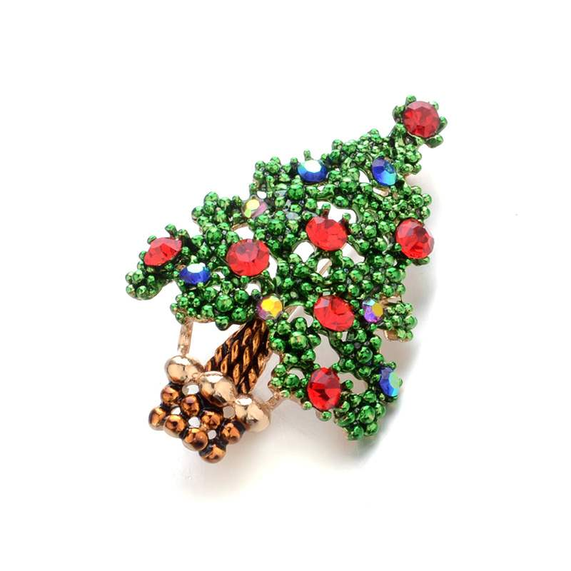 Ericdress Christmas Diamante Brooches