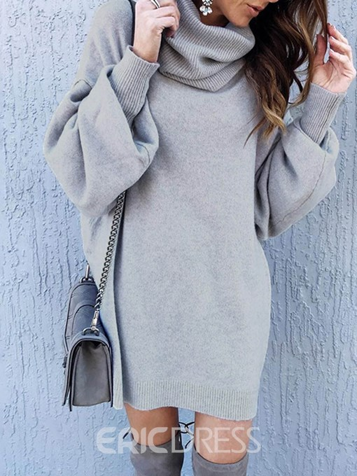 Ericdress Mid-Length Turtleneck Sweater