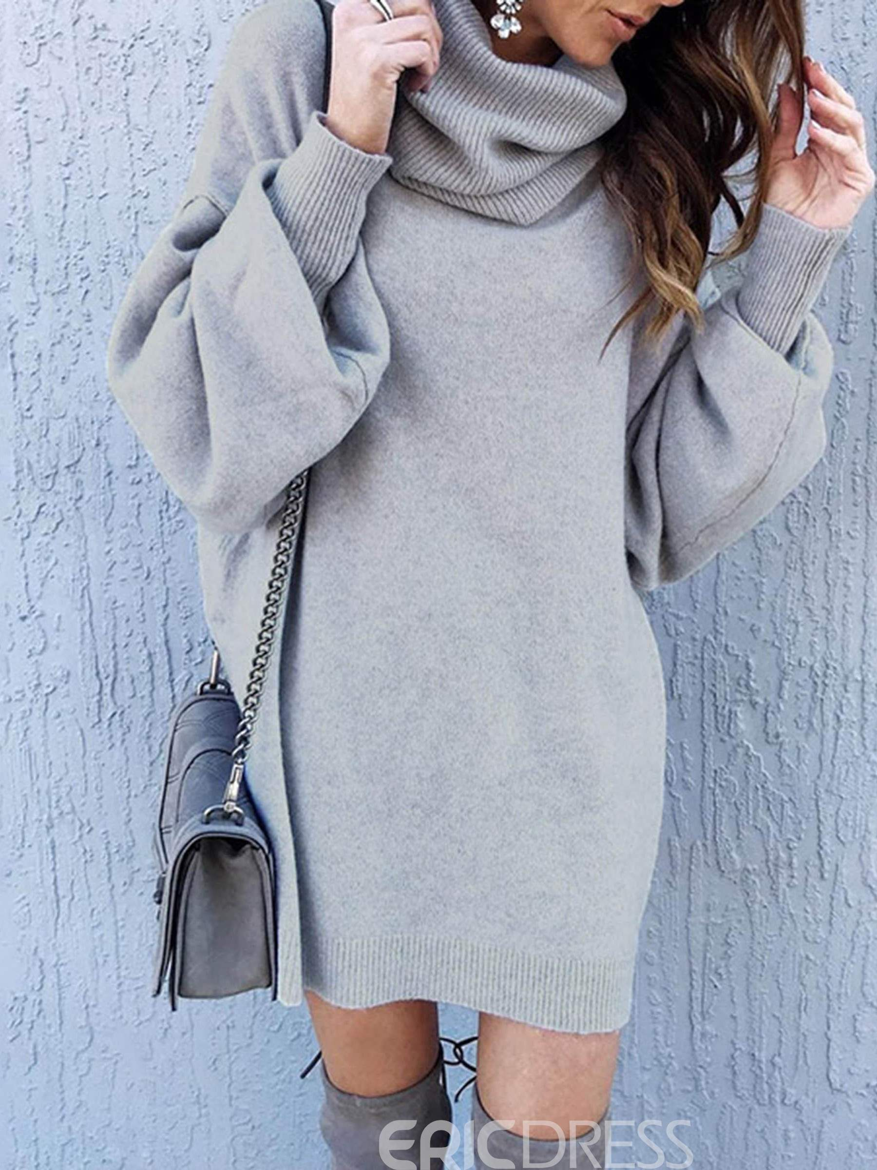 Mid-Length Turtleneck Sweater