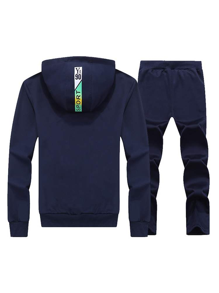 Ericdress Letter Print Plain Mens Casual Sports Outfit
