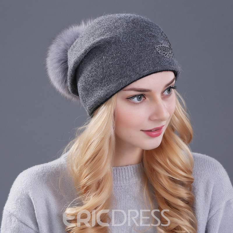Ericdress Pure Colour Diamante Women Hat