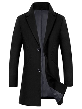 ericdress manteau de laine d'hiver mens plaine simple simple boutonnage