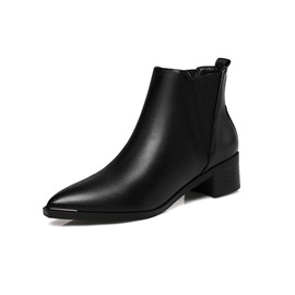 Ericdress Elastic Block Heel Pointed Toe Women's Chelsea Boots