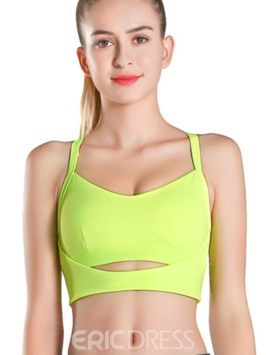 Ericdress Quick-Dry Non-Adjusted Straps Three Quarters Sports Bras