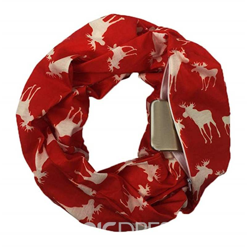 Ericdress Christmas Elk Colourful Scarf