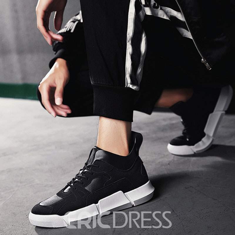 Ericdress Lace-Up Patchwork Mid-Cut Upper Men's Skate Shoes