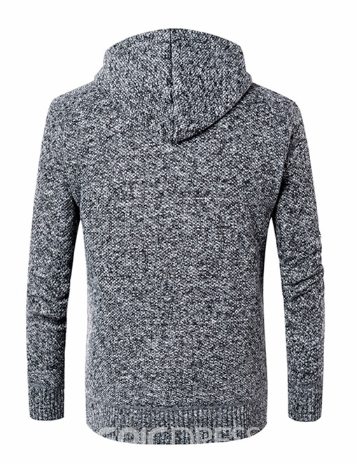 Ericdress Casual Zipper Hooded Mens Winter Sweater