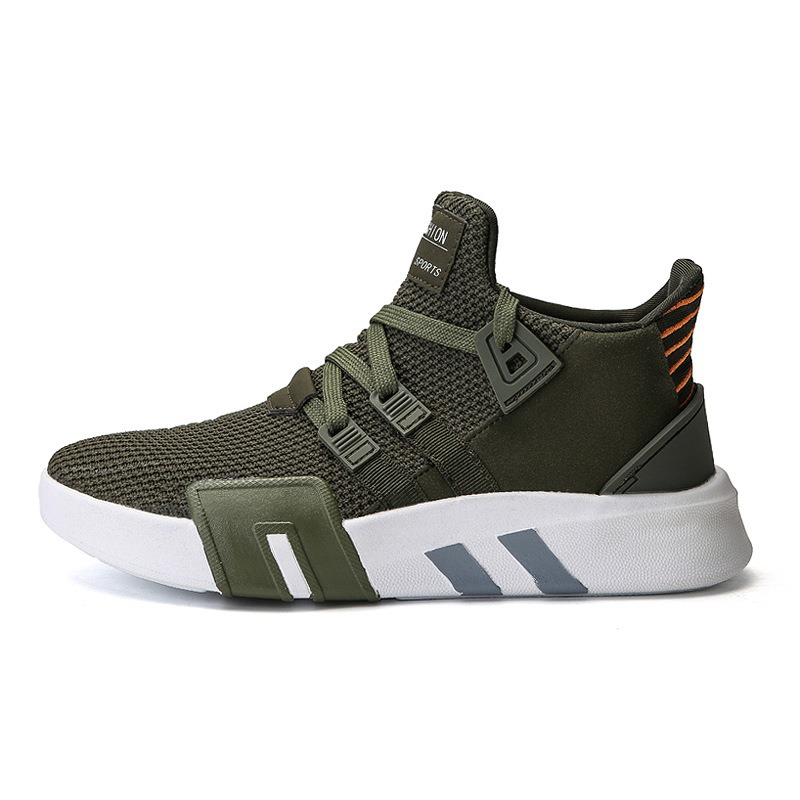 Ericdress Mesh Mid-Cut Upper Lace-Up Round Toe Men's Sneakers