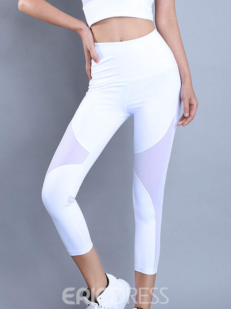 Ericdress Patchwork Quick Dry Solid Female Leggings