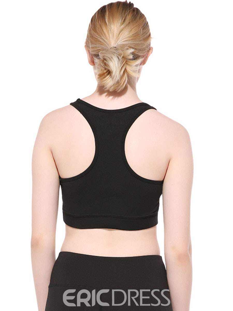 Ericdress Preventing Accidental Exposure Plain Ultrathin Sports Bras