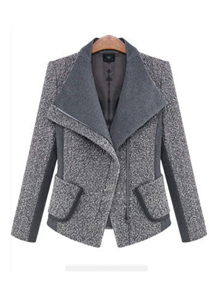 Ericdress Zipper Slim Thick Standard Lapel Jacket
