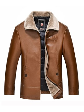 Ericdress Plain Thick Zipper Mens Casual Down Jacket