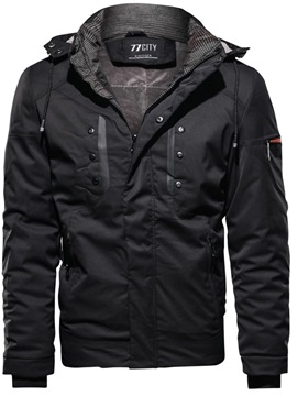 Ericdress Plain Hooded Mens Winter Warm Jacket