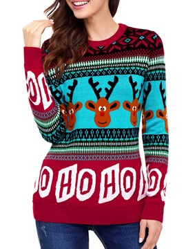 Ericdress Christmas Regular Wrapped Regular Loose Winter Sweater
