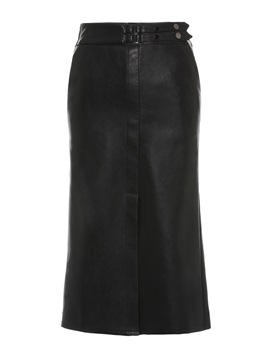 Ericdress PU Split Mid-Calf Plain Women's Pencil Skirt