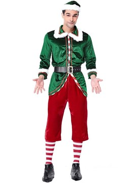 Ericdress Stripe Christmas Costume for Men