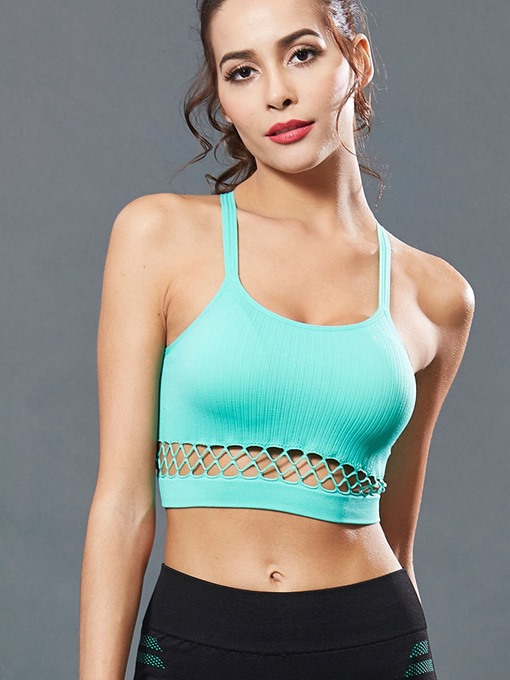 Ericdress Preventing Accidental Exposure Plain Free Wire Sports Bras
