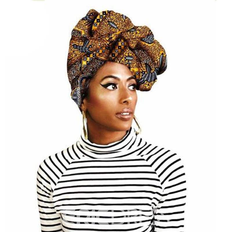 Ericdress Headband Color Block Africa Style Printing Accessories