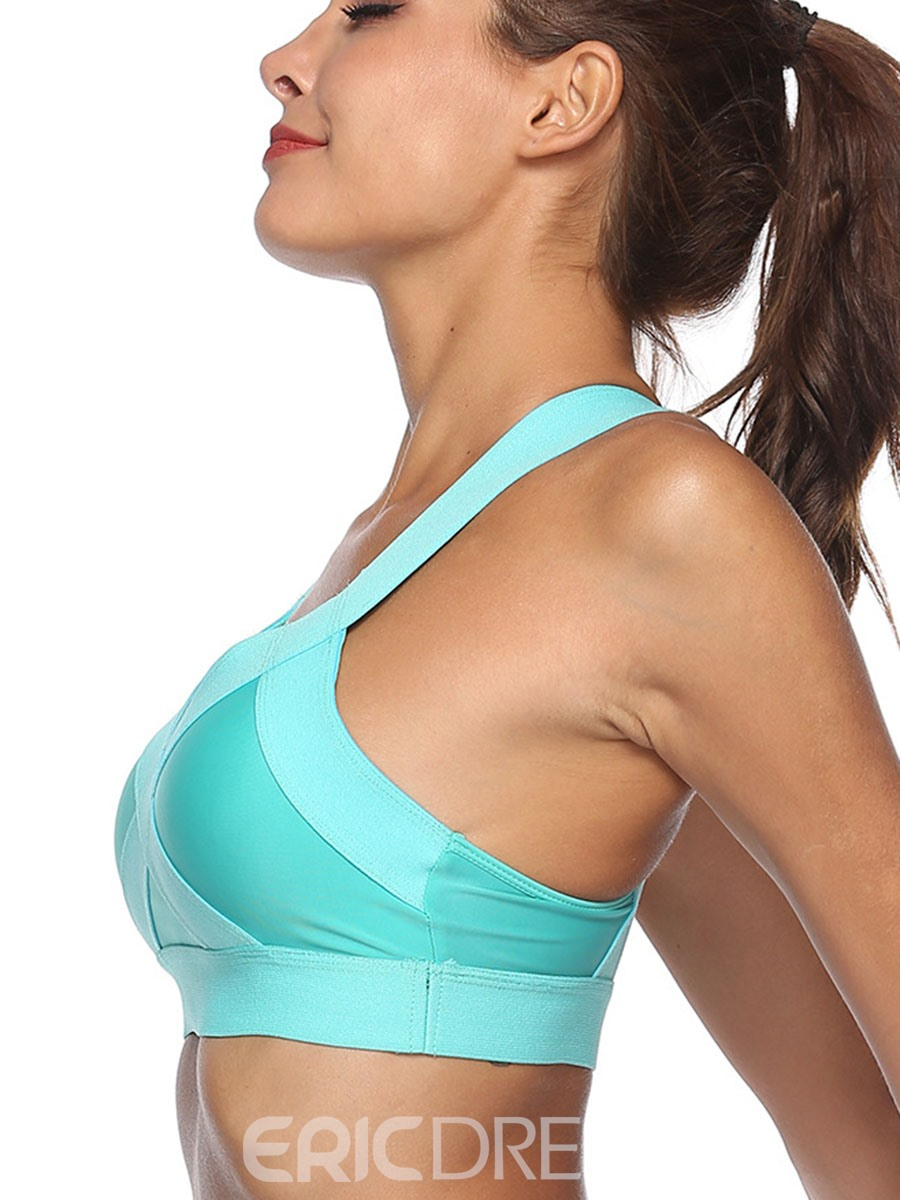 Ericdress Non-Adjusted Straps Breathable Plain Free Wire Sports Bras