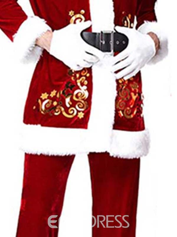 Ericdress Embroidery Floral Polyester Christmas Costumes for Men