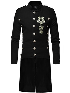 ericdress uni long printemps simple trench-coat occasionnel
