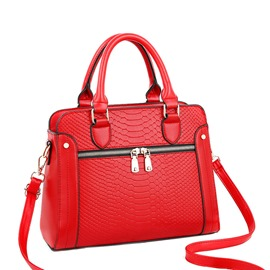 Ericdress Serpentine Embossing PU Barrel-Shaped Tote Bags