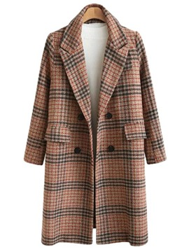 Ericdress Regular Patchwork Straight Winter Long Overcoat