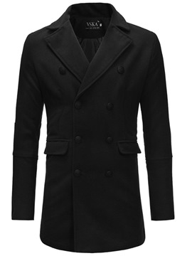 ericdress trench-coat en laine à double boutonnage