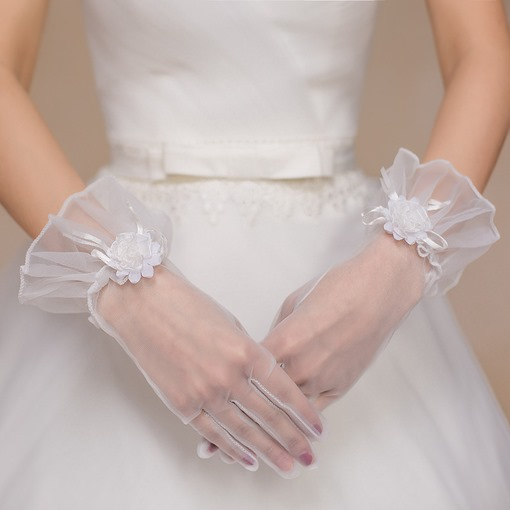 Ericdress Wrist Finger Appliques Wedding Gloves 2019