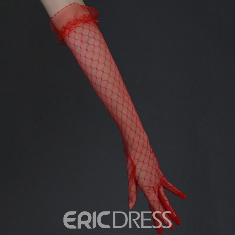 Ericdress Lace Finger Elbow Wedding Gloves