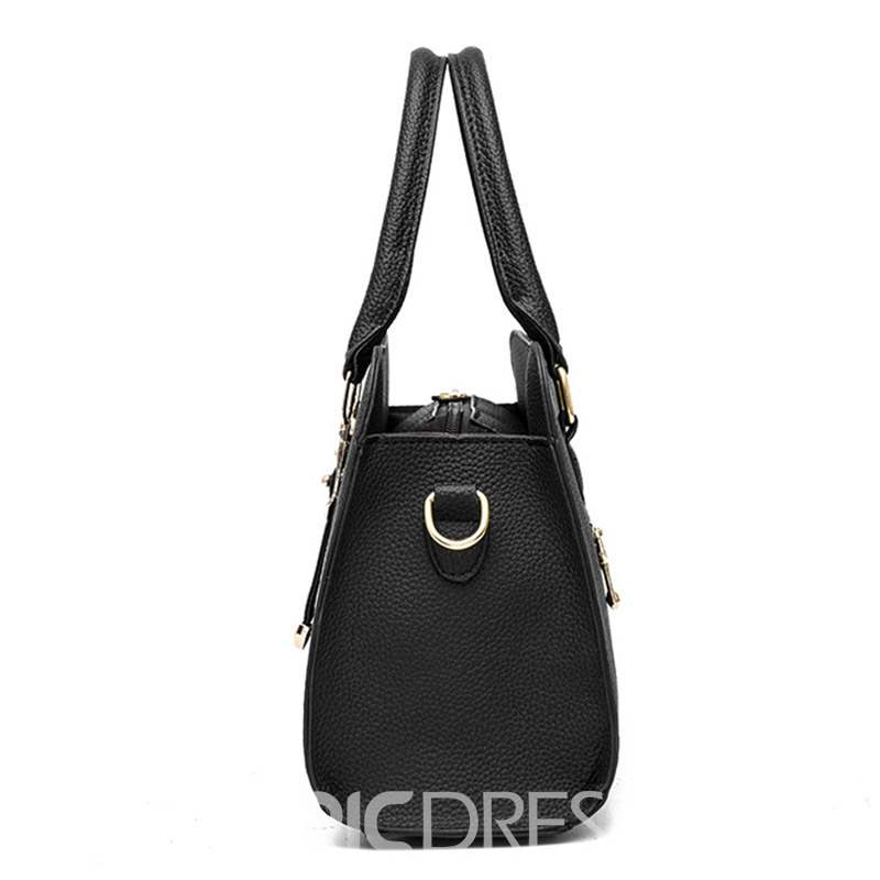 Ericdress Floral PU Embossing Square Tote Bags