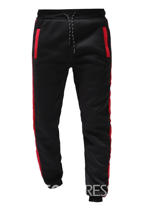 Ericdress Patchwork Side Striped Lace-Up Mens Casual Pants