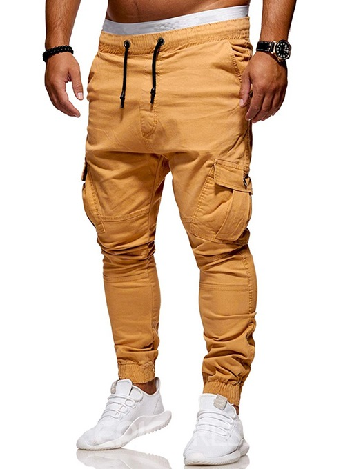 Ericdress Plain Side Pocket Lace-Up Mens Casual Pants