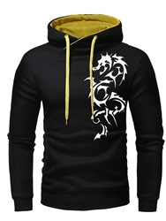 Ericdress Print Pullover Hooded Mens Casual Hoodies